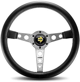 MOMO PRO35BK0S Prototipo Silver 350 mm Leather Steering Wheel