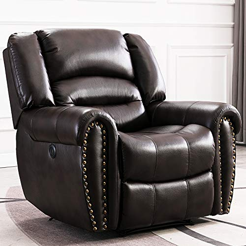 ANJ Electric Recliner Chair W/Breathable Bonded Leather, Classic Single...