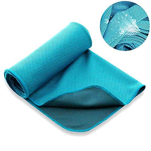 DOSMUNG Mikrofaser Handtücher, Sporthandtücher Reisetuch 100 x 30 cm Microfaser Handtücher, Kühlendes Handtuch für Reisen, Fitness, Yoga, Sauna & Outdoor Sport