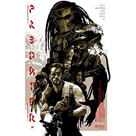 "24/"" x 36/"" Frame Predator 1987 Schwarzenegger GLOSSY FINISH Movie Poster"