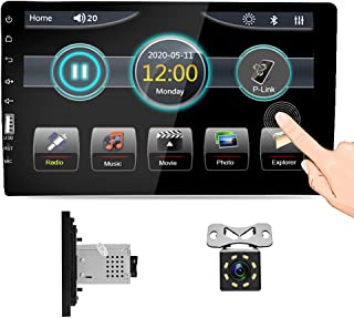 $83 » Hikity 9 Inch Single Din Car Stereo 1080P Touch Screen Car Multimedia Player Support Mirror Link Bluetooth SWC FM Radio US...
