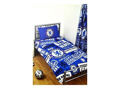 Chelsea Official Patch Double Duvet Cover Set Blue by Chelsea F.C.