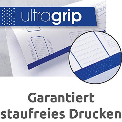 Avery Zweckform L4761-100 Ordnerrücken Etiketten (A4, 400 Rückenschilder, breit/kurz, selbstklebend, blickdicht, 61 x 192 mm) 100 Blatt weiß - 2