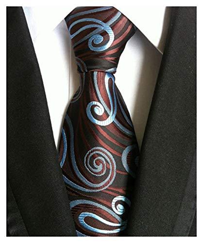 GTUQ Corbata de tela escocesa de 8 cm para hombre, color rojo, negro, seda jacquard tejida, corbata de negocios, accesorio de corbata de boda, regalo para boda (Color: A 08)