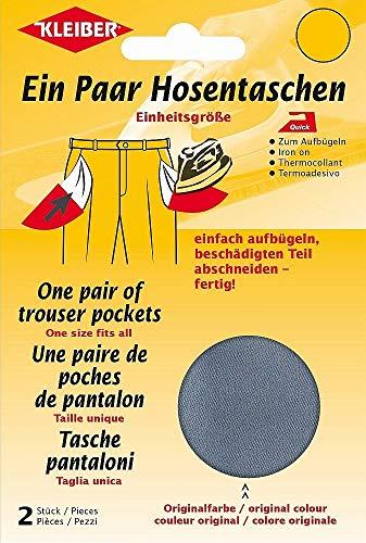Kleiber + Co.GmbH Quick-EIN-Paar-Hosentasche, dunkelgrau, 18,5 cm x 16 cm