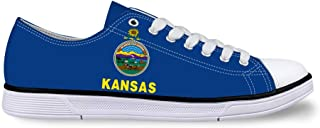 Unisex Casual High-Top Skate Shoes Classic Sneakers Adults Trainers Maine Flag