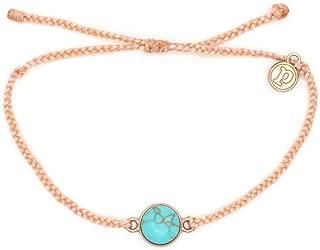 Rose Gold/Gold Riviera Stone Bezel Braided Bracelet Plated Charm Adjustable Band Waterproof