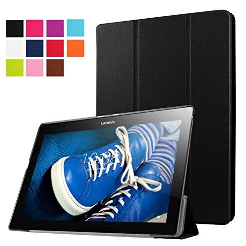 Tasche für Lenovo Tab 2 A10-30 A10-70F / Tab 10 TB-X103F 10.1 Zoll Schutz Hülle Flip Tablet Cover Hülle TB2-X30 F/L (Schwarz)