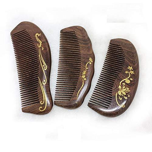 1SourceTek Wooden Hair Comb - Fine Tooth Wood Comb for Women - No Static Natural Detangling Sandalwood Comb