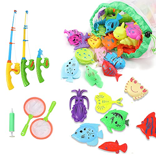 ckotisw Fishing Toys for Toddlers, Magnetic Fish...