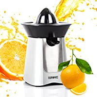 Duronic Citrus Juicer JE6 BK | Electric Juice Extractor | Powerful 100W | Black and Stainless-Steel | 2 Cone Sizes |...