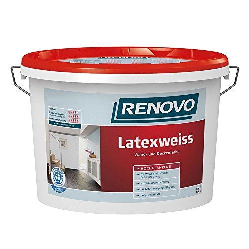 Latexweiss Latexfarbe 5 L Hochglänzend Renovo Wand Deckenfarbe