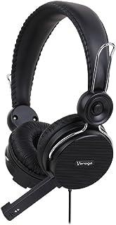 Audífonos Diadema Vorago HS-201 con Micrófono, Alámbricos conexion 3.5 MM, Color Negro