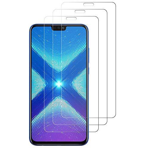 iGlobalmarket [Pack Ahorro - 3 Unidades] Protector de Pantalla Huawei Honor 8X, Vidrio Templado, sin Burbujas, Alta Definicion, 9H Dureza, Resistente a Arañazos