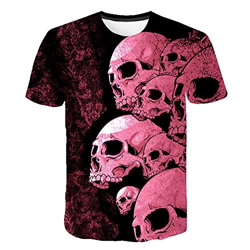 Camiseta de Calavera para Mujer, Camiseta 3D para Hombre, Camiseta Transpirable de Verano con Eslogan para Hombre, Camisetas Personalizadas para Hombre 3XL