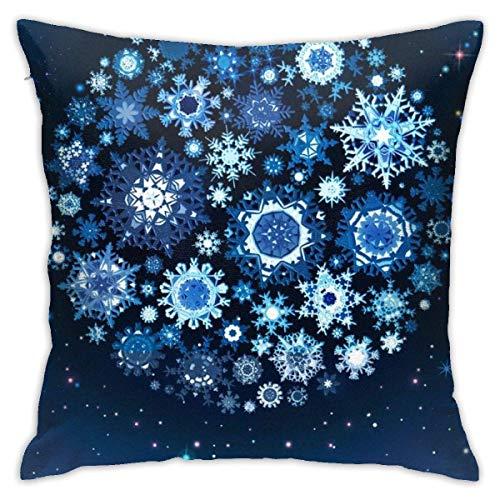 Throw Pillow Cover Cushion Cover Pillow Cases Decorative Linen Snowflake Ball for Home Bed Decor Pillowcase,45x45CM