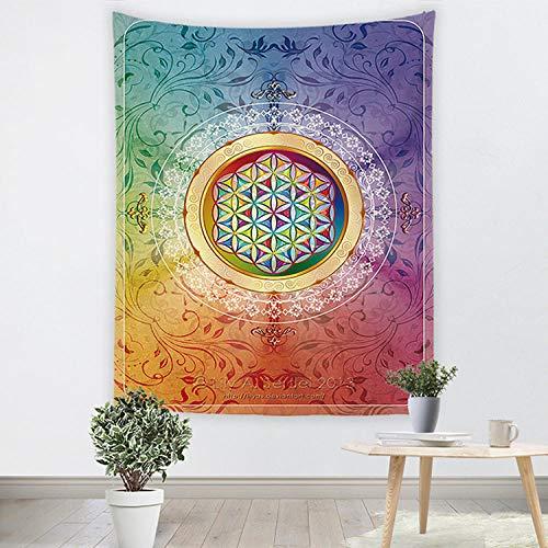 Dorm Decor,Tapestry Wall HangingDecoración de dormitorio tapiz para el hogar revestimiento de paredes,ancla de impresión digital 3D,tela de fondo de transmisión en vivo,tela colgante-4_El 150 * 130cm
