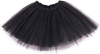 Ruiuzi Damen Tütü Rock Minirock 4 Lagen Petticoat Tanzkleid Dehnbaren Mini Skater Tutu Rock Erwachsene Ballettrock Tüllrock für Party Halloween Kostüme Tanzen