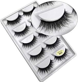 Coollooda Natural Thick Makeup Extension 5 Pair Pack 3D False Eyelashes Handmade Fake Eye Lashes G801