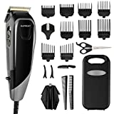 SUPRENT Corded Hair Clippers for Men Kids Professional, 21-Piece Home Hair Cutting Kit