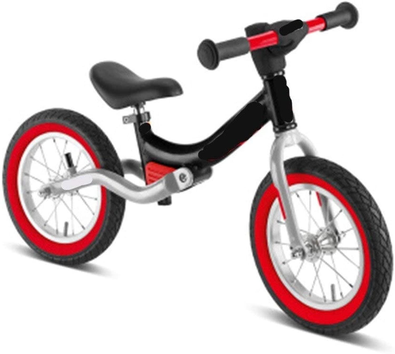 子供のバランス車のスライド自転車幼児スクーター2歳サスペンション空気入りタイヤソフトシート、4色 (Color : B)