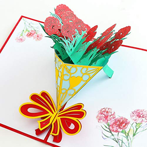 Tarjeta de felicitación ECOPRO 3D para todas las ocasiones, regalos hechos a mano en agradecimiento, pensando en ti, cumpleaños, aniversario, tarjetas para mamá esposa profesora enfermera