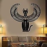 supmsds Bastet Vinyl Wandaufkleber Abziehbilder Schlafzimmer Dekoration Alte Ägyptische Katze Göttin Von Ägypten Wandtattoo Wohnzimmer 57x61 cm