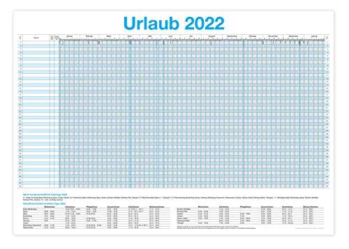 XXL Urlaubsplaner 2022 / Personalplaner - bis zu 45 Mitarbeiter I 13 Monate + Gratis Wandkalender 2022 (86 x 59 cm)