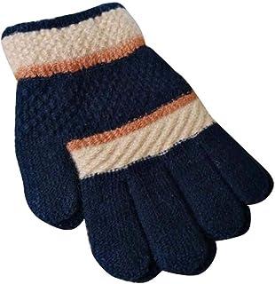 Winter Baby/Children Cute Mittens, Wool Knit Five Fingers Warm Gloves, 03