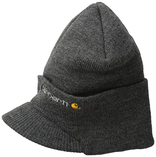 Carhartt Men's Knit Hat With Visor,Coal Heather,One Size