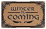 Winter Is Coming - Rascador de zapatos para alfombra de entrada,...