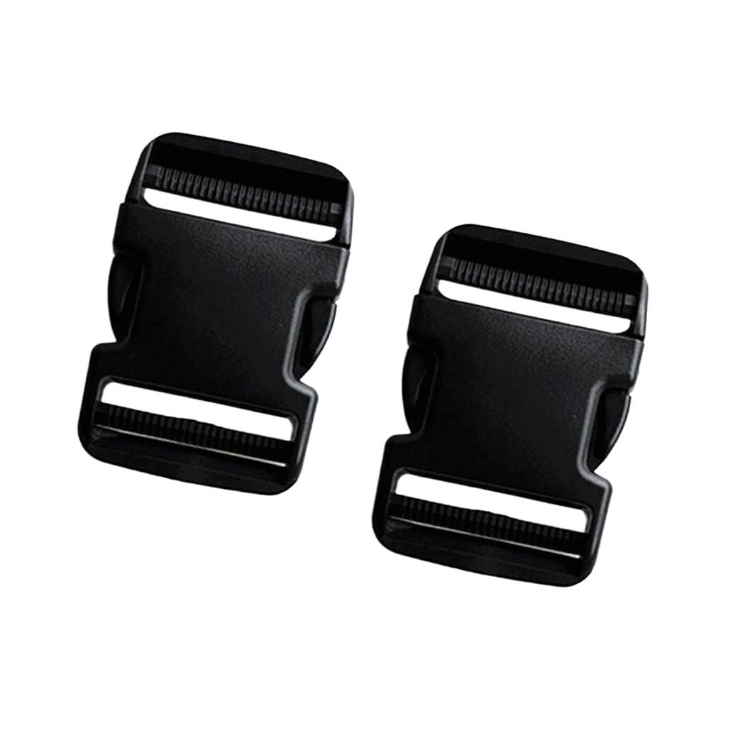 足ジョグ間違いなくCUTICATE サイドリリース バックル 50mm 調節可能 ウェビングストラップ用 軽量 耐久性 ブラック