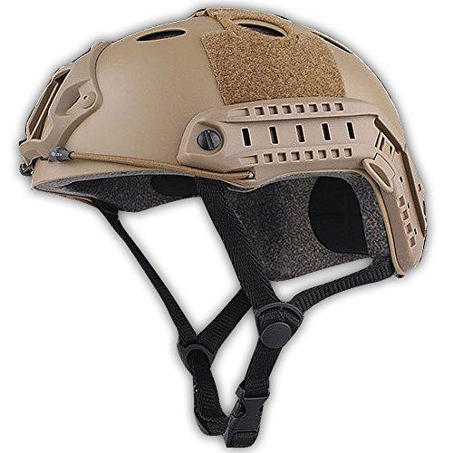 H World EU Ejército estilo militar SWAT Combat PJ tipo rápido casco para CQB Shooting Airsoft Paintball (DE)