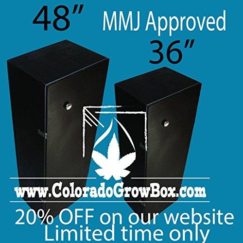 Colorado Grow Box - Stealth Hydroponic Grow box, 600 Watt, 6 Site MMJ System