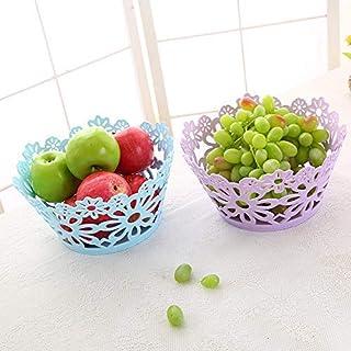 ZTMN Plateau de Fruits ajouré Assiette de Fruits sculptée Panier de collations Panier de Rangement Table Basse Boîte à Fru...