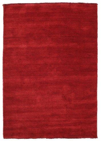 CarpetVista Alfombra Handloom Fringes - Rojo Oscuro 120x180 Alfombra Moderna