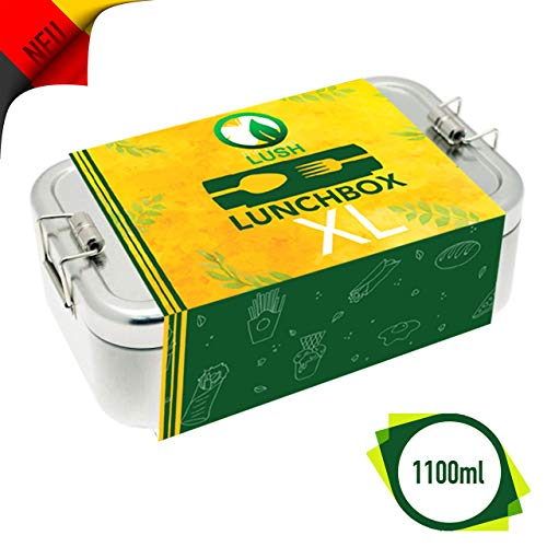 Metall Brotdose für Kinder und Erwachsene   Lunchbox   XL   Gross