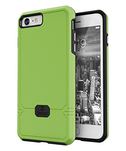 Black Jaagd Slim Shock-Absorbing Rugged Case Compatible with iPhone 12 Case; Compatible with iPhone 12 Pro Case