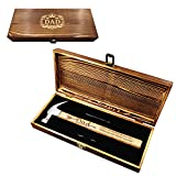 Birthday Gifts for Father - Engraved Hammer with Premium Wooden Gift Box - Dear Dad Thank you for Helping Me Build My Life