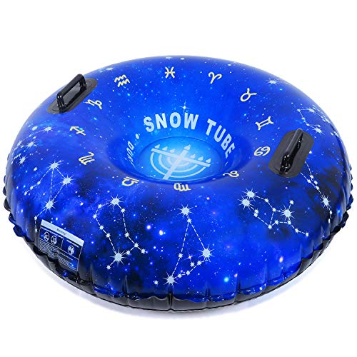 HITOP Snow Tube, Inflatable Snow Sled for Kids and Adults, Heavy Duty Snow Tube Made by Thickening...