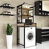 JOP-L estantería lavadora multifunción lavavajillas domésticos de bastidor de la máquina, de múltiples capas lavadora estante, acero al carbono lavadora estante cuarto de aseo estante superior de alma