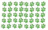 60 Second Makeover Limited Juego de 8 Calcamonías de Vinilo con Forma de Huellas de Perro para Decoración de Laptop, Netbook, Tablet - Verde Manzana Mate