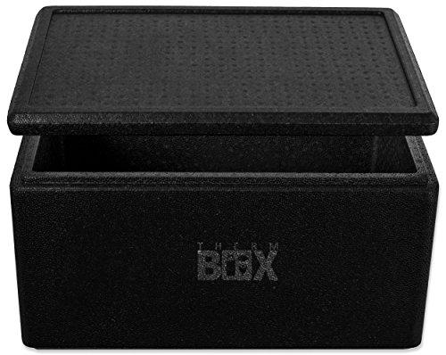 THERM BOX Profibox 45B, Innen: 53x33x25cm, Wand:3,0cm, Volumen: 45,3L, Styroporbox Thermobox Kühlbox Warmhaltebox