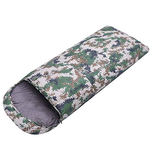 CATRP-Sac de couchage en Plein air, Sac de Couchage en Duvet de Canard, Automne et Hiver, Adulte, Type Sac de Couchage Camouflage (Couleur : B)