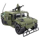 YXYOL Simular Ejército de Camiones Todo Terreno Juguete del Coche del vehículo, con el Sonido y la luz llevada, 1: 16 Diecast Metal Vehículo Militar Modelo Chicos de la habitación Decoración