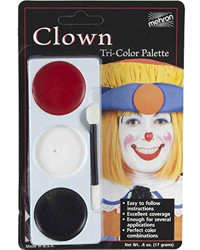 Palettes de maquillage Clown Mehron (3 couleurs)
