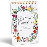"Sweetzer & Orange Perpetual Calendar. 12 Month Office or Family Wall Calendar. 6x9"" Floral Flip Calendar Design. Perpetual Birthday Calendar Wall Hanging, Anniversary Calendar and Monthly Planner"