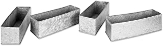 Koyal Wholesale Galvanized Zinc, Farmhouse, Gray Metal Containers for Wedding, Rustic Planters, Succulent Flower Pots, French Galvanized Décor, Waterproof (12 x 4-Inch)