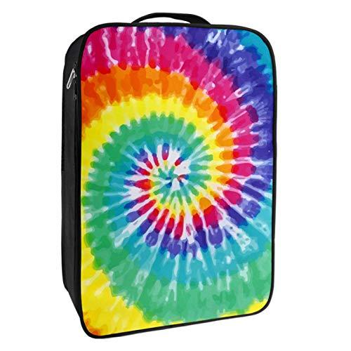 Caja de almacenamiento para zapatos de viaje y uso diario Rainbow Tie...
