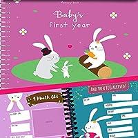 MEMORY BOOK + STICKERS - 無条件ロージー女の赤ちゃんの初年度レコードブック、12マイルストーンステッカー付き